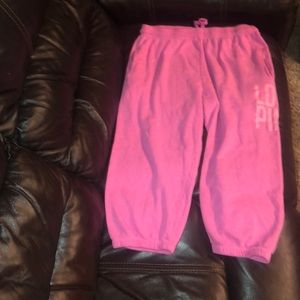 Women's size small VS Pink sweat pant capris
